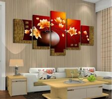 Framed Home Decor Rich Flowers Stretched Canvas Prints Painting Wall Art 5PCS