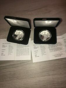 2016 Proof American Silver Liberty Medals 1 W & 1 S W/COA & OGP UH10 & UH9 01