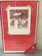 AMERICAN GREETINGS Christmas Holiday Cards &Envelopes No Place Like Home-Pack16