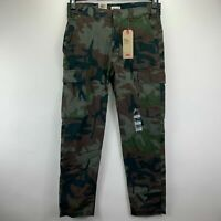 Levi's Mens 502 Camo Aviator Tapered Hybrid Cargo Pants Green 32x32