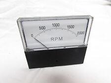 612233-A RPM PANEL METER 0-2000 ***XLNT***