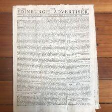 1779 REVOLUTIONARY WAR newspaper LETTERS of JOHN BURGOYNE aft BATTLE of SARATOGA