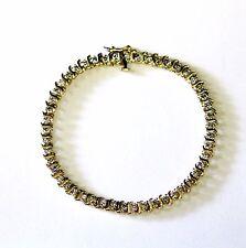 14k yellow gold 1.50ct diamond SI3 H tennis bracelet 9.9g vintage estate antique