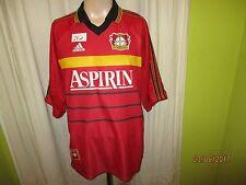 "Bayer 04 leverkusen ORIGINALE ADIDAS maglia di casa 1998/99 ""aspirina"" TG. XXL"