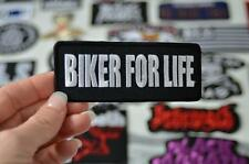 BIKER FOR LIFE Brothers Club Bike Motorbike Cloth Patch Iron/Sew On Patches