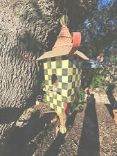 mackenzie childs whimsical pagoda hand painted birdhouse