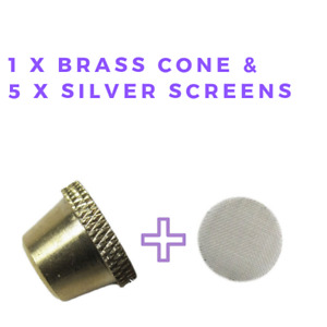 Regular Brass Cone with 5 silver screens