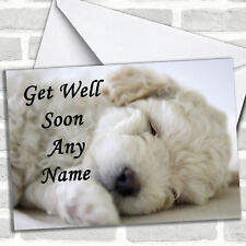 Bichon Frise Dog Get Well Soon Customised Card