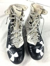 UNDER ARMOUR Highlight Clutch Fit Football Cleats Black White Mens Size  8