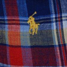 Polo Ralph Lauren Linen Shirt Watchhill3 Red Plaid Multi Short Sleeve 3XL T TALL