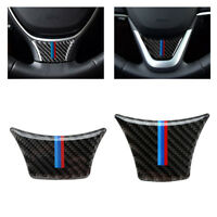 Carbon Fiber Steering Wheel Sticker M stripe Cover For BMW F10 F01 F07 5 series