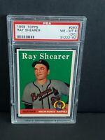 1958 Topps Ray Shearer #283 NM-MT PSA 8 (OC) Milwaukee Braves