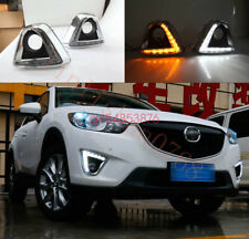 For Mazda CX-5 CX5 2012-2016 LED DRL Daytime Running Light Fog Day Lamp W/Turn