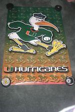 "University of Miami The ""U"" Hurricanes  Original Starline Poster OOP Sealed 2020"
