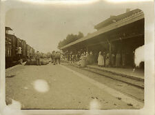 PHOTO ANCIENNE - VINTAGE SNAPSHOT - GARE TRAIN TLEMCEN ALGÉRIE - STATION 1910