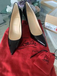 Christian Louboutin Decollete Heel Shoes Black Patent 38 - 8