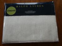Ralph Lauren Cream Standard pillow Sham