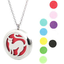Pet  Cat  Premium Aromatherapy Essential Oil Diffuser Locket Necklace Pendant