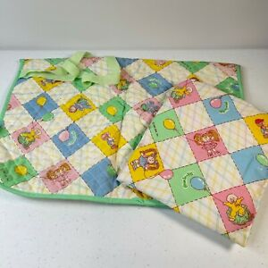 vintage cabbage patch kids 80s baby changing pad nursery room multicolored