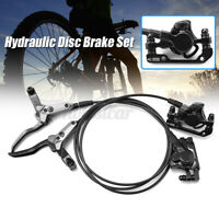 Front&Rear Hydraulic Disc Brake Set For Mountain Bike Bicycle Accessories !