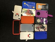 12 CASES IPHONE  4,4th Apple Soft Rubber Silicone Case
