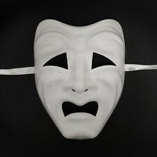 Unpainted Tragedy Blank Masquerade Mask Venetian Cosplay Costume DIY W7356