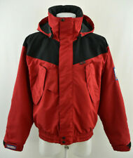 NORRONA Mens Telemark Microfiber Jacket Red Hooded Windproof Zip Neck Size S
