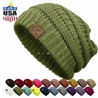 Bubble Knit Slouchy Baggy Beanie Oversize Winter Hat Ski Slouchy Cap Skull Women