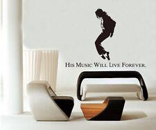 Michael Jackson Dancing MUSIC LIFE Removable Wall Sticker Home Decor Vinyl ONE H