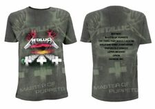 Metallica Master Of Puppets Allover Official Men's Charcoal T-Shirt