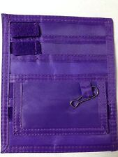 New PURPLE Nurse Small Nylon Scrub 5 Pocket Organizer Pal With Belt Loop
