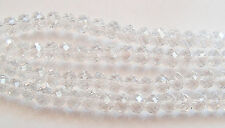 50 Crystal Rondelle Abacus Glass Beads Crystal Clear - 4.5mm