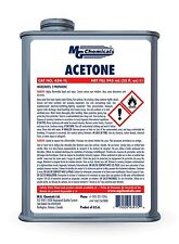 MG Chemicals 434-1L Acetone (Pure Grade) 32 fl oz Can