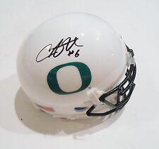 Charles Nelson Signed Oregon Ducks Football Mini Helmet w/COA C