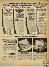 1952 PAPER AD Marble's Hunting Knife Knives Ideal Staghorn Baseball Glove Wilson