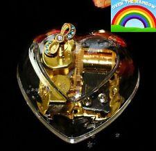 Gorgeous Heart Shape Music Box : SOMEWHERE OVER THE RAINBOW