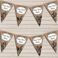 Mad Hatters Tea Party Alice In Wonderland Vintage Personalised Birthday Bunting