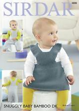 Sirdar 4888 Knitting Pattern Baby Pinafore & Dungarees in Snuggly Baby Bamboo DK