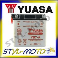 YB7-A BATTERIA BATTERY ORIGINALE YUASA CON ACIDO VESPA PK 50SS 1983