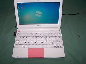 "Pink Acer Aspire One HAPPY2- 10.1"" - Atom N570 - Win 10 - 2 GB RAM - 320 GB HDD"