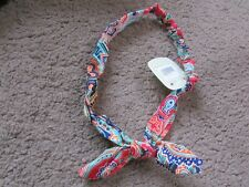 Retro rockabillly hair bandeaux fabric pattern headband 1950's band orange green