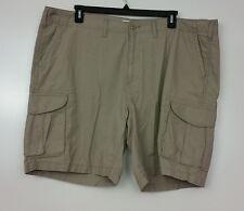 Sonoma Men's Shorts Cargo Size 46 Tan Khaki 100% Cotton Flat Front 6 Pockets NWT