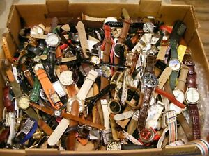 HUGE LOT- GRAB BAG DEAL-LEATHER N NON L. BANDS W.W.-TO FIX OR FOR PARTS,