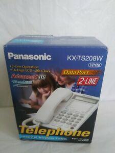 Panasonic KX-TS208W Standard Phone - Corded - 2 x Phone Line - open box