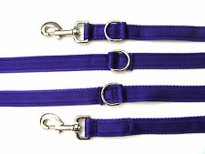 Purple Police Style Dog Training Lead Obedience Leash 25mm Wide Cushion Webbing