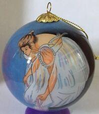 Ballerina Glass Christmas Ornament