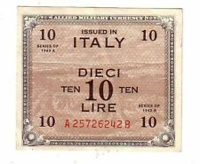 Italia Allied Military Currency AM lire 10  1943  BB  VG   pick M19  lotto  2126