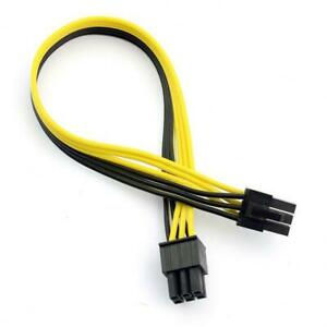 6 Pin Male to 6 Pin Male 18AWG PCIe 50CM Extension - Mining Cable