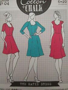 Cotton+Chalk The Katie Dress Printed Sewing Pattern #04 Sizes 6-20 Uncut