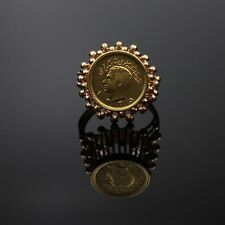 Vintage Estate Antique 22K Gold Coin Statement Ring